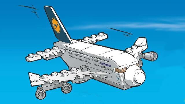 The Lufthansa / LEGO A380.
