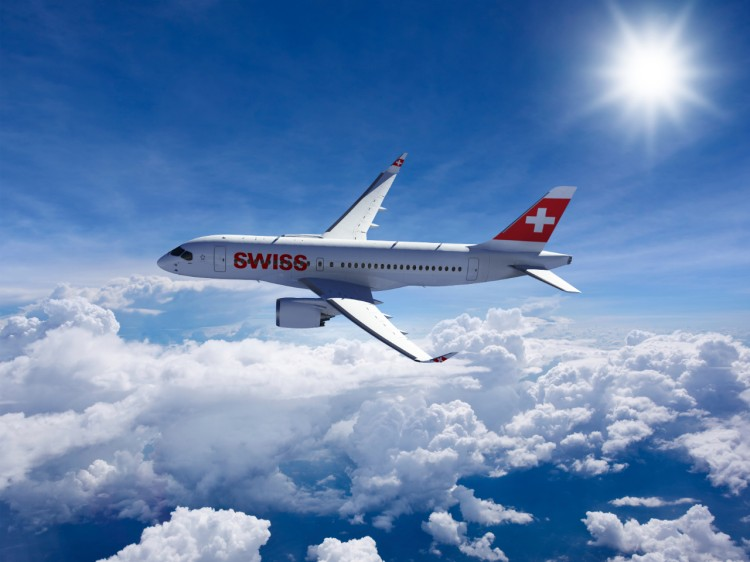 SWISS' new Bombardier CS100