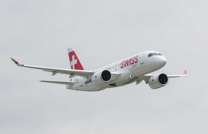 SWISS' CS100....photo courtesy of Bombardier