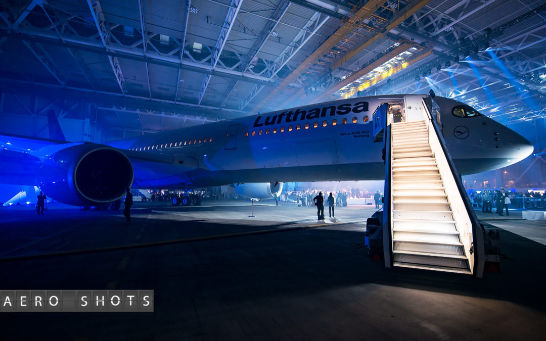 The Lady In 'Blau'…..Celebrating Lufthansa's First A350